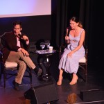Sutton Foster with Seth Rudetsky (July 2015, Provincetown, MA) - Photo by Jeanne BL