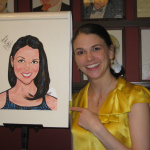 Receiving Sardi's caricature
