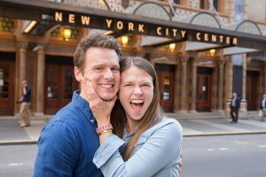 Sutton Foster and Jonathan Groff. Photo by Matt Karas.