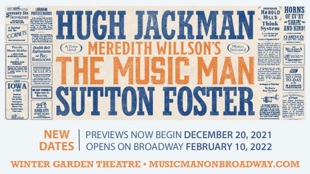 The Music Man Previews now begin December 20, 2021. Opening on Broadway February 10, 2022